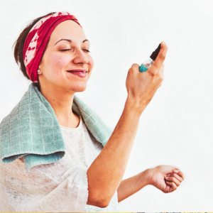 RoseCitron - Tonique anti-rougeurs - Application